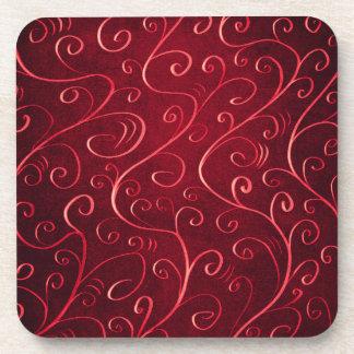 Porta-copos Teste padrão vermelho Textured elegante lunático