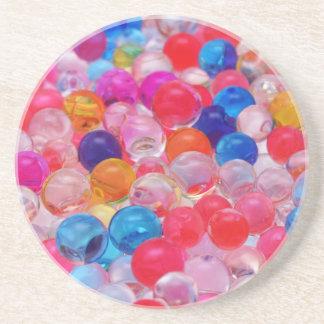Porta-copos textura colorida das bolas da geléia