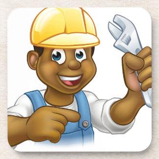 Porta Copos Trabalhador manual preto do mecânico ou do