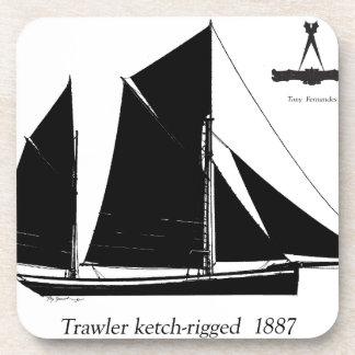 Porta Copos traineira 1887 ketch-equipada - fernandes tony