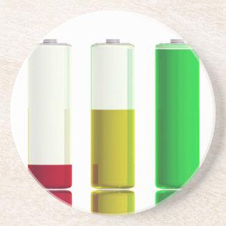 Porta-copos Três baterias