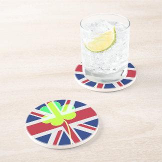Porta-copos Trevo britânico irlandês St Patrick Reino Unido do