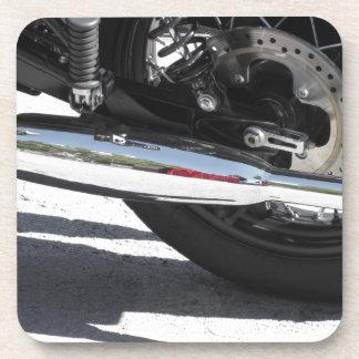 Porta Copos Tubulação de exaustão cromada motocicleta. Vista