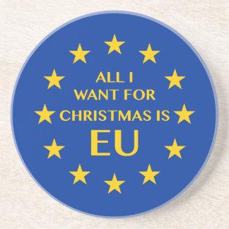 Porta-copos Tudo que eu quero para o Natal é UE