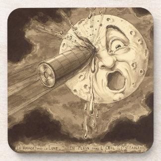 Porta Copos Uma viagem ao desenho do vintage da lua