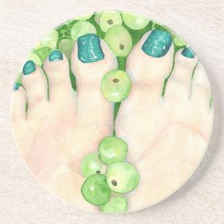 Porta-copos Uvas verdes e Pedicure
