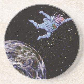 Porta-copos Vaca do espaço sobre a terra