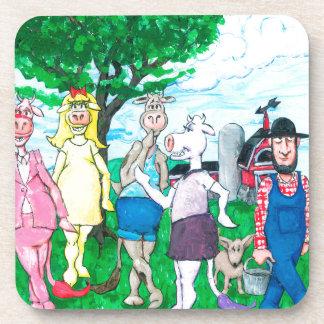 Porta-copos Vacas de leiteria que vestem a roupa de rua