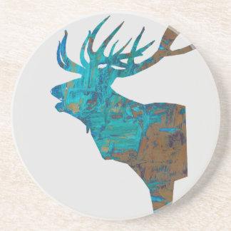 Porta-copos veado principal dos cervos nos turquois