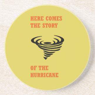 Porta-copos Vem aqui a história do furacão
