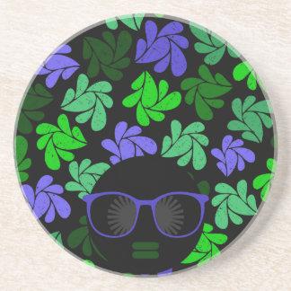 Porta-copos Verde & azul da diva do Afro