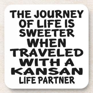 Porta-copos Viajado com um sócio da vida do Kansan