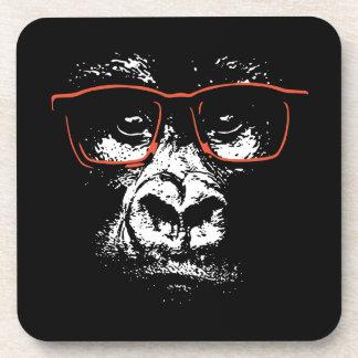 Porta-copos Vidros do vermelho do gorila