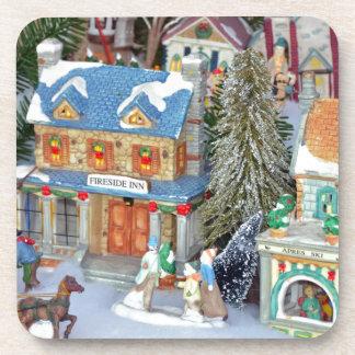Porta Copos Vila diminuta do Natal