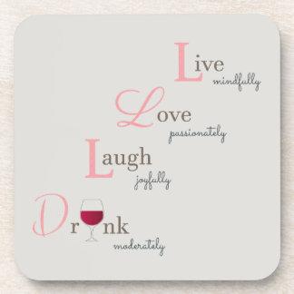 Porta-copos Vinho vivo do riso e da bebida do amor