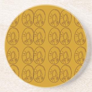 Porta-copos Vintage do ouro dos limões do design