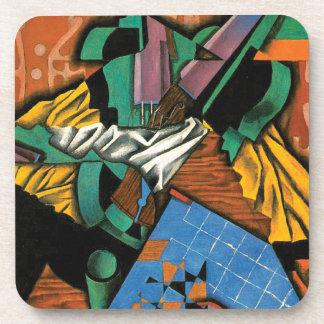Porta-copos Violino e tabuleiro de damas por Juan Gris