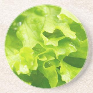 Porta-copos Vista macro das folhas da alface em uma salada