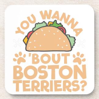 Porta-copos Você quer aos terrier de Boston do ataque do Taco?
