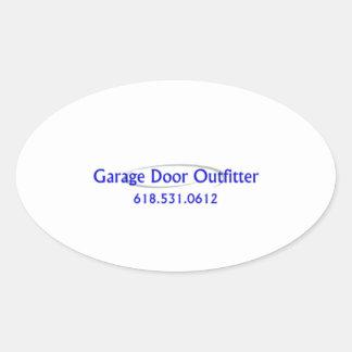 Porta da garagem adesivo oval