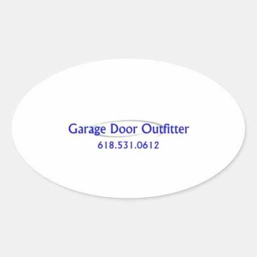 Porta da garagem adesivos em formato oval