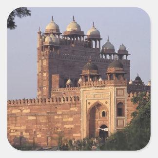 Porta de Buland Darwaza da vitória ao Dargah Adesivo Quadrado