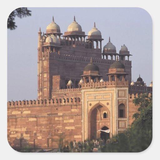 Porta de Buland Darwaza da vitória) ao Dargah Adesivo Quadrado