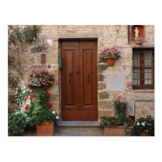 Porta de madeira Toscânia Italia personalizada Cartão Postal