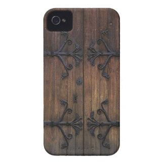 Porta de madeira velha bonita capas para iPhone 4 Case-Mate