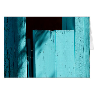 Porta de turquesa, cartão vazio