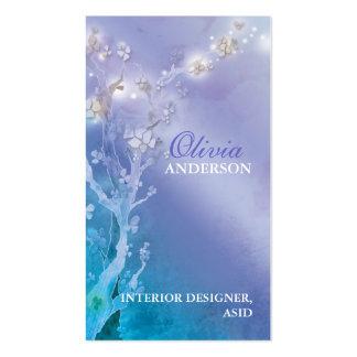 Porta do negócio azul roxo da fantasia do alvore cartoes de visitas