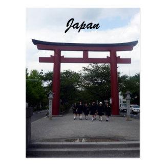 porta do torii de kamakura cartão postal
