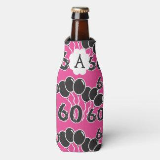 Porta-garrafa 60th ROSA personalizado do aniversário