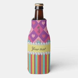 Porta-garrafa Alice colorida no país das maravilhas e nas