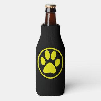Porta-garrafa Amante do cão do design da pata do cão amarelo