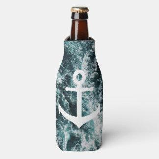 Porta-garrafa Âncora náutica no fundo da foto do oceano