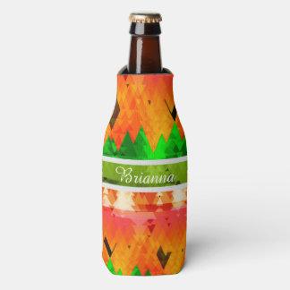 Porta-garrafa As cores de pinheiros do outono