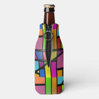 Porta-garrafa Azulejos brilhantes coloridos