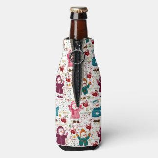 Porta-garrafa Bonecos de neve do Feliz Natal