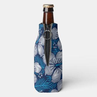 Porta-garrafa Bordado impresso tropical do hibiscus