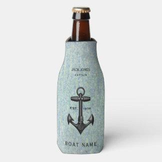 Porta-garrafa Capitão preto do barco do marinheiro da âncora do