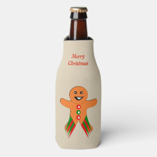 Porta-garrafa Costume do homem de pão-de-espécie da festa de
