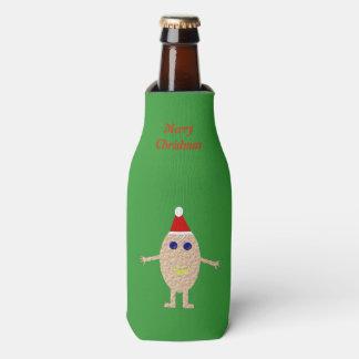 Porta-garrafa Costume engraçado do ovo do Natal