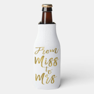 Porta-garrafa Da senhorita à Sra. roteiro da folha de ouro do
