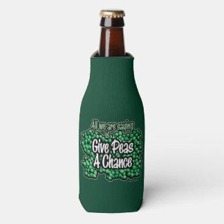 Porta-garrafa Dê a ervilhas uma possibilidade
