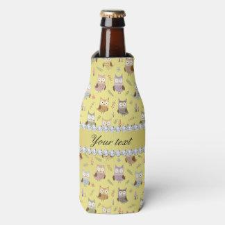 Porta-garrafa Diamantes bonitos de Bling da folha de ouro do