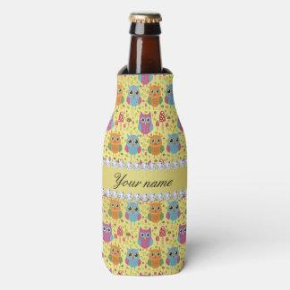 Porta-garrafa Diamantes coloridos de Bling da folha de ouro do