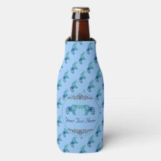 Porta-garrafa Elefante do Henna (azul/luz - azul)