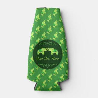 Porta-garrafa Elefante do Henna (verde/verde limão)