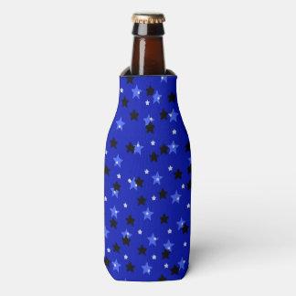 Porta-garrafa Estrelas em preto e no azul